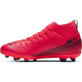 Nike Mercurial Superfly 7 Club FG / MG Jr AT8150-606 football shoes red red 2