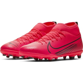 Nike Mercurial Superfly 7 Club FG / MG Jr AT8150-606 football shoes red red 3