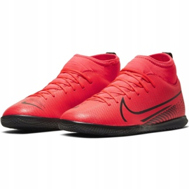 Nike Mercurial Superfly 7 Club Ic Jr AT8153-606 indoor shoes multicolored red 3