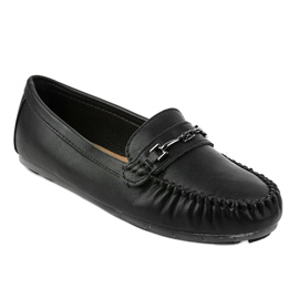 Black loafers ballerina with eco leather FM3102A 1