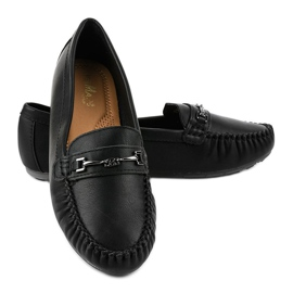 Black loafers ballerina with eco leather FM3102A 2