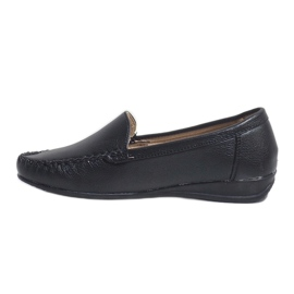 Black loafers on the wedge 8-01 2