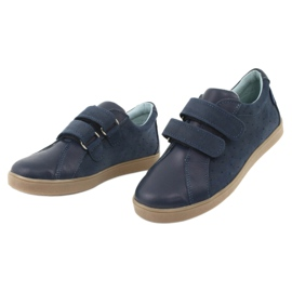 Boys' Velcro shoes Mazurek 1235 navy blue 3
