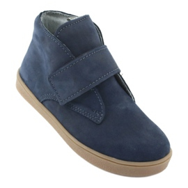 Velcro shoes Mazurek 1101 navy blue brown 1