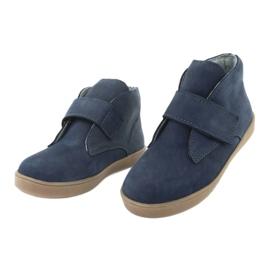 Velcro shoes Mazurek 1101 navy blue brown 3