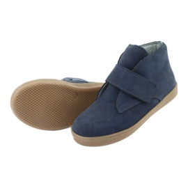 Velcro shoes Mazurek 1101 navy blue brown 5