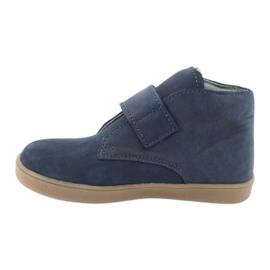 Velcro shoes Mazurek 1101 navy blue brown 2