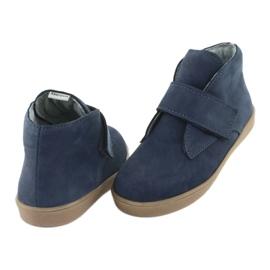 Velcro shoes Mazurek 1101 navy blue brown 4