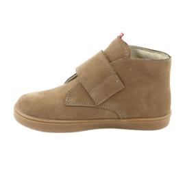 Velcro shoes Mazurek 1101 dark beige 2