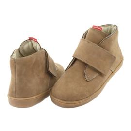 Velcro shoes Mazurek 1101 dark beige 4