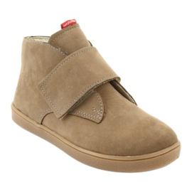 Velcro shoes Mazurek 1101 dark beige 1