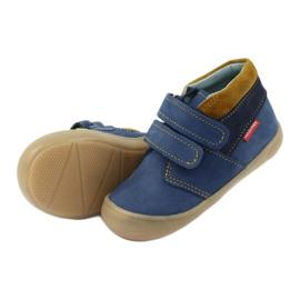 Boys' shoes with Velcro Mazurek 1355 navy blue yellow 5