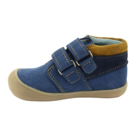 Boys' shoes with Velcro Mazurek 1355 navy blue yellow 2