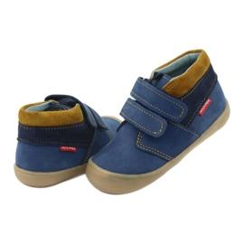 Boys' shoes with Velcro Mazurek 1355 navy blue yellow 4