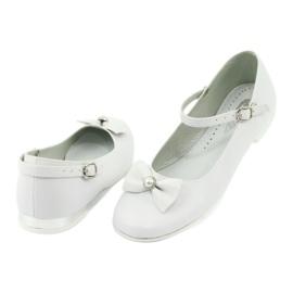 Miko 806 white communion ballerinas grey 2