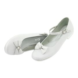 Miko 806 white communion ballerinas grey 3