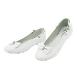 Miko 806 white communion ballerinas grey 1