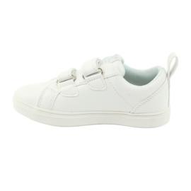 American Club Velcro sneakers flowers ES11 white red blue 2