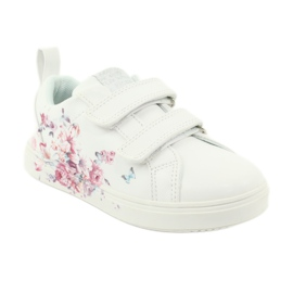 American Club Velcro sneakers flowers ES11 white red blue 1