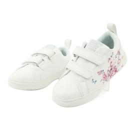 American Club Velcro sneakers flowers ES11 white red blue 3