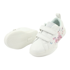 American Club Velcro sneakers flowers ES11 white red blue 4