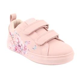 American Club Velcro sneakers flowers ES11 red violet blue pink 1