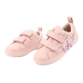 American Club Velcro sneakers flowers ES11 red violet blue pink 3