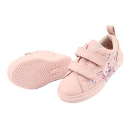 American Club Velcro sneakers flowers ES11 red violet blue pink 5