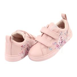 American Club Velcro sneakers flowers ES11 red violet blue pink 4