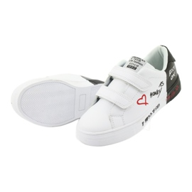 American Club ES05 black and white sports sneakers red 5