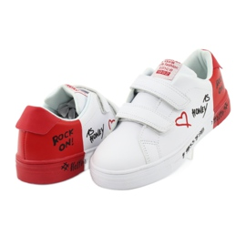 American Club ES05 white and red sports sneakers black 4