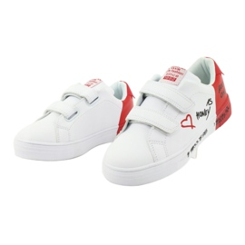 American Club ES05 white and red sports sneakers black 3