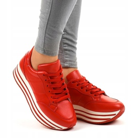 Red fashionable women's sports shoes 230-4 1
