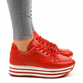 Red fashionable women's sports shoes 230-4 2