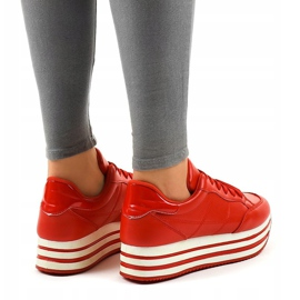 Red fashionable women's sports shoes 230-4 3
