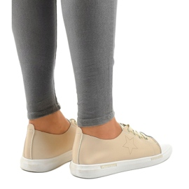 Beige classic sneakers QW8371-3 brown 3