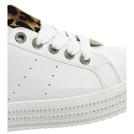 White leopard sneakers on the M-071 platform 4