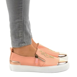 Pink classic slip-on sneakers A-89 2