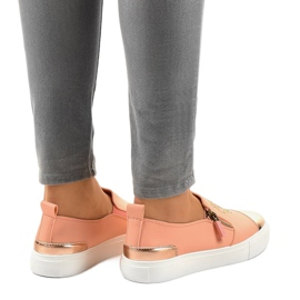 Pink classic slip-on sneakers A-89 3