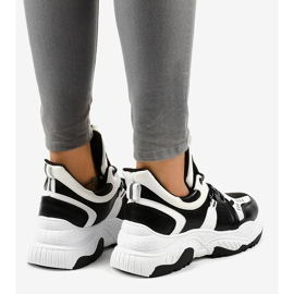 Black and white women's sneakers CB-136 3