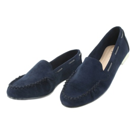 Women's suede loafers Sergio Leone 722 navy blue 3