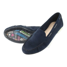 Women's suede loafers Sergio Leone 722 navy blue 5