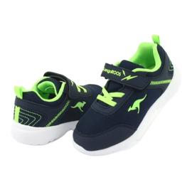 Light KangaROOS 02050 navy blue sports shoes green 4