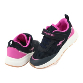 KangaROOS sports shoes with Velcro 18507 navy / pink 4
