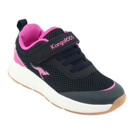 KangaROOS sports shoes with Velcro 18507 navy / pink 1