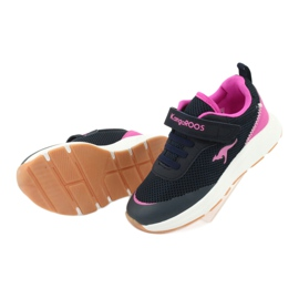 KangaROOS sports shoes with Velcro 18507 navy / pink 5