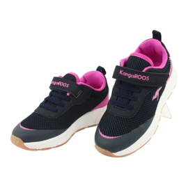KangaROOS sports shoes with Velcro 18507 navy / pink 3