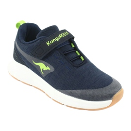 KangaROOS sports shoes with Velcro 18508 navy / lime green 1