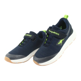 KangaROOS sports shoes with Velcro 18508 navy / lime green 3