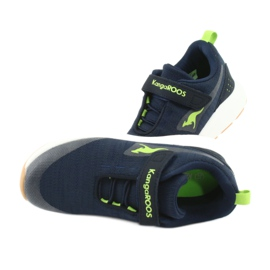 KangaROOS sports shoes with Velcro 18508 navy / lime green 5